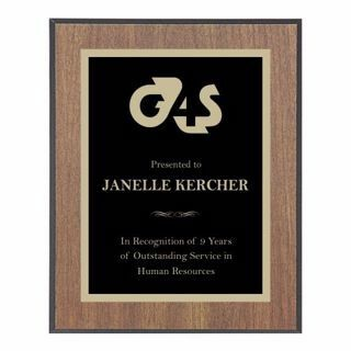 "Value Walnut Plaque Black Edge 9"" x 12"" 