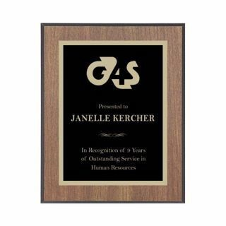 "Value Walnut Plaque Black Edge 8"" x 10"" 