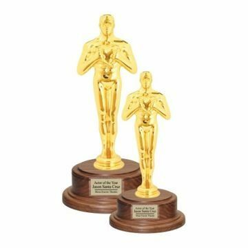 Gold Male Achievement Trophy On Walnut Base | 2 Sizes Available | Engraving Included