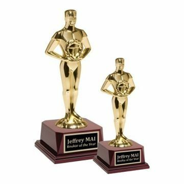 Gold Metal Male Achievement Trophy | 2 Sizes Available | Engraving Included