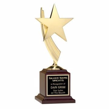 Metal Star Trophy Casting | Engraving Included