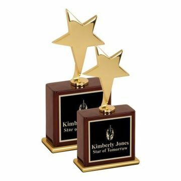 Gold Metal Star Award | 2 Sizes Available | Engraving Included