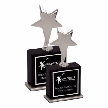 Silver Metal Star Award | 2 Sizes Available | Engraving Included