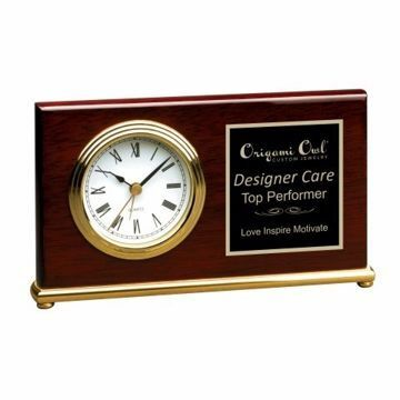Engraved Brass Base Award Clock