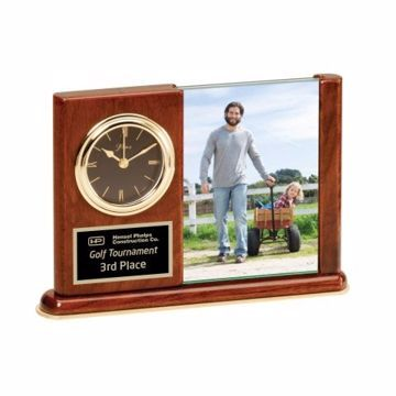 Engraved Desk Photo Clock | Engraving Included