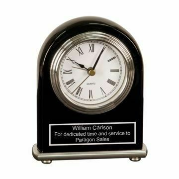 Engraved Black Piano Finish Award Clock | Engraving Included