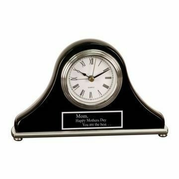 Black Mantel Desk Clock | Engraving Included