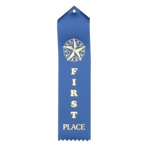 1st Place Card & String Ribbon | Blue