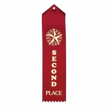 2nd Place Card & String Ribbon | Red