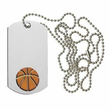 Basketball Dog Tag | Engraving Included