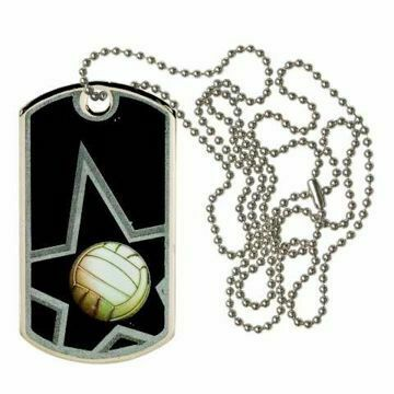 Black Volleyball Dog Tag | Engraving Included
