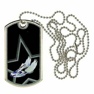 Black Track Dog Tag | Engraving Included