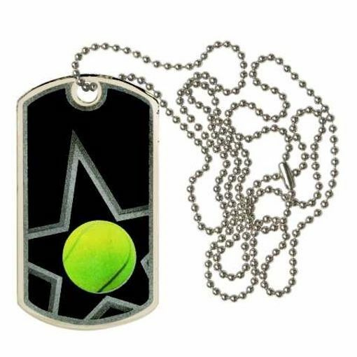 Black Tennis Dog Tag | Engraving Included