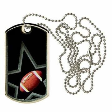 Black Football Dog Tag | Engraving Included