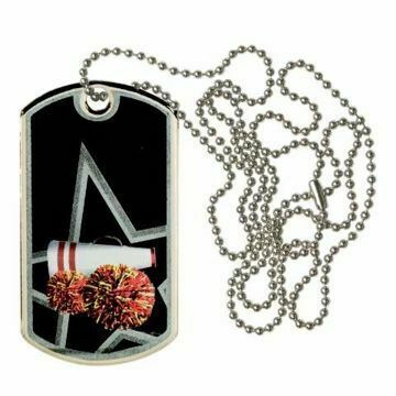 Black Cheerleading Dog Tag | Engraving Included