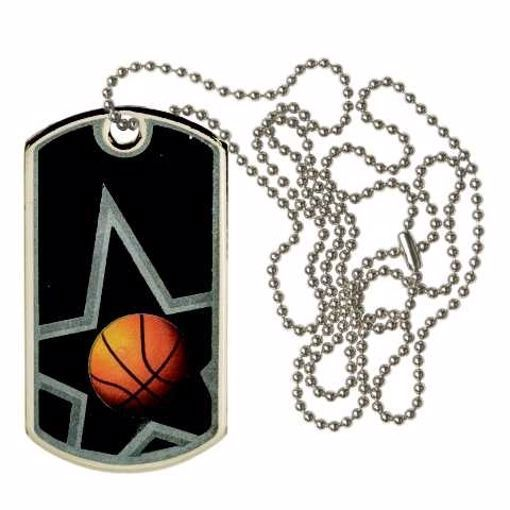 Black Basketball Dog Tag | Engraving Included