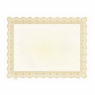 Gold Blank Certificate