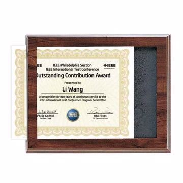 Cherry Finish Slide In Certificate Plaque