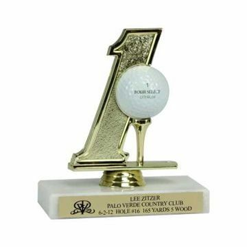 Hole In One On White Marble Base | Engraving Included