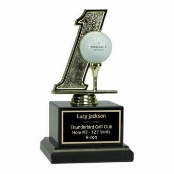 Hole In One Trophy Black Marble | Engraving Included