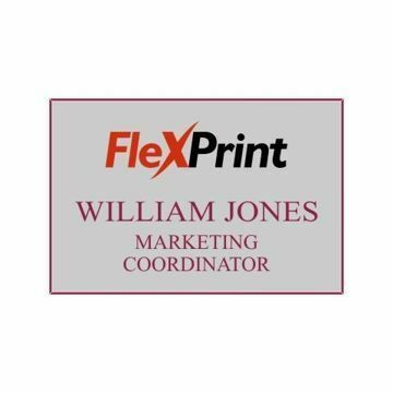 2 x 3 Name Tag Gray Engraves Maroon | Full Color Imprint