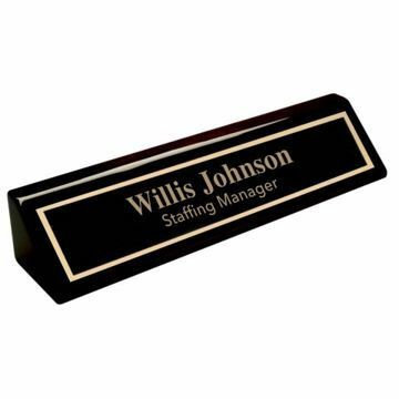 Nameplate Black Piano Finish | Engraving Included