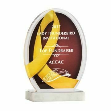 Yellow Ribbon Acrylic Award | Engraving Included