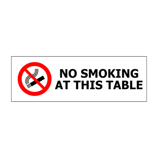 """1"""" x 3"""" Printed Plastic Sign 