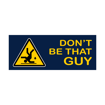 "2"" x 5"" Printed Plastic Sign 