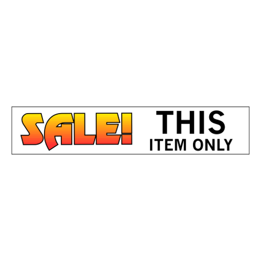 """2"""" x 10"""" Printed Plastic Sign   White Prints Full Color"""