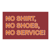 """6"""" x 10"""" Printed Plastic Sign 