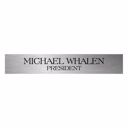 2 x 12 Laser Engraved Stainless Steel Plate