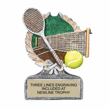Centurion Resin Tennis Trophy | Engraving Included