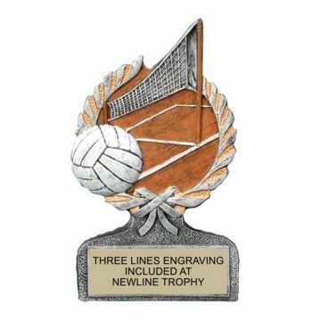 Centurion Resin Volleyball Trophy | Engraving Included