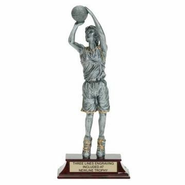 Elite Resin Basketball Trophy Female | Engraving Included