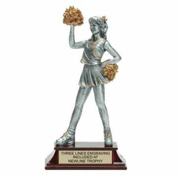 Elite Resin Cheerleader Trophy Female | Engraving Included