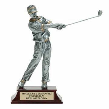 Elite Resin Golf Trophy Male | Engraving Included