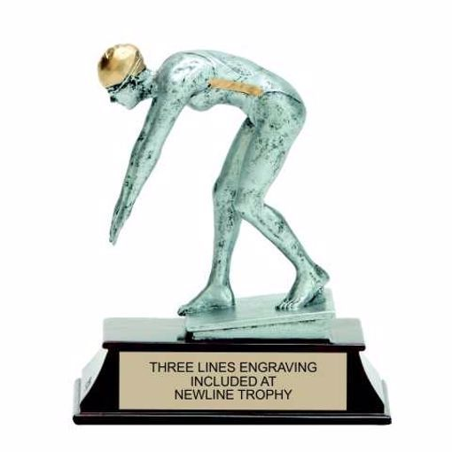 Elite Resin Swimming Trophy Female | Engraving Included