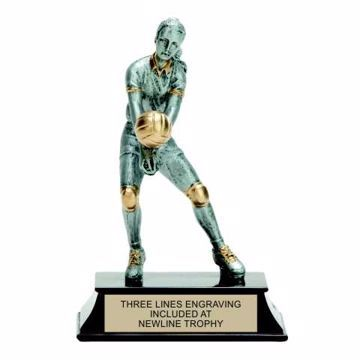 Elite Resin Volleyball Trophy Female | Engraving Included