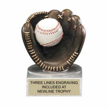 Color Tek Resin Baseball Trophy | Engraving Included