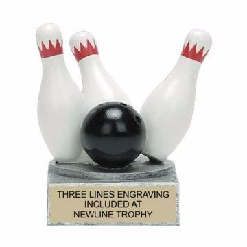Color Tek Resin Bowling Trophy | Engraving Included