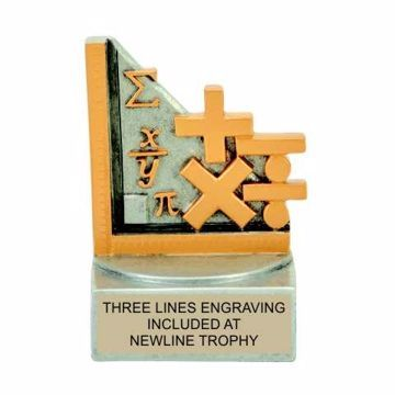 Color Tek Resin Math Trophy | Engraving Included