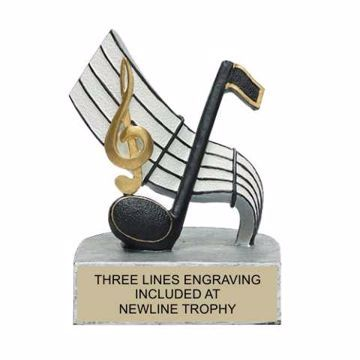 Color Tek Resin Music Trophy | Engraving Included