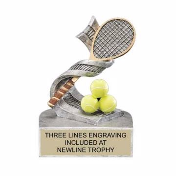 Color Tek Resin Tennis Trophy | Engraving Included
