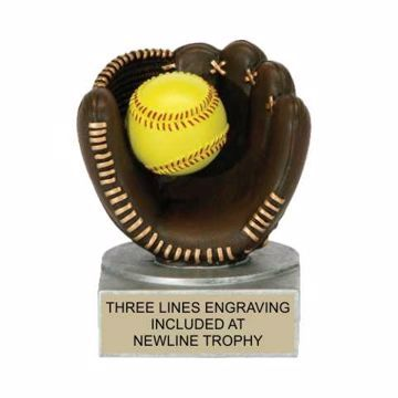 Color Tek Resin Softball Trophy | Engraving Included