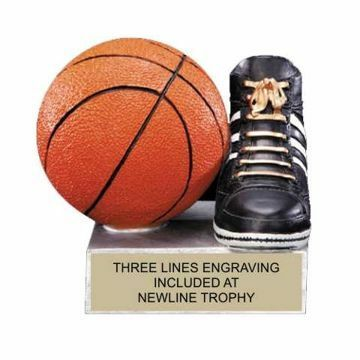 Color Tek Resin Basketball Trophy | Engraving Included