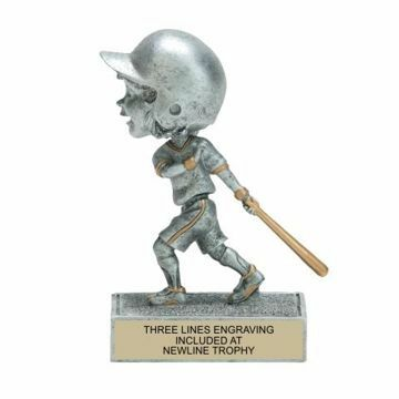 Female Baseball Bobble Trophy | Engraving Included