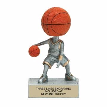 Basketball Bobble Trophy | Engraving Included