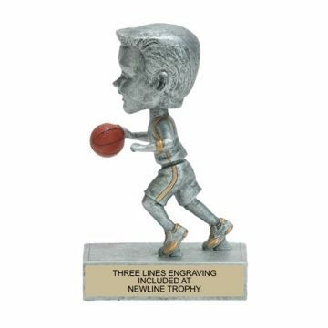 Male Basketball Bobble Trophy | Engraving Included