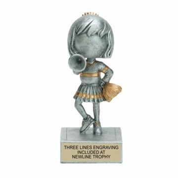 Cheerleader Bobble Trophy | Engraving Included